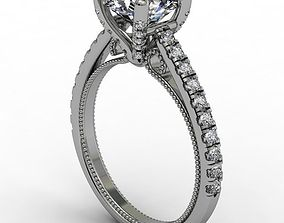 Fashion engagement ring jewelry 3D print model