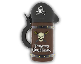 Pirates of the Caribbean Beer Stein - 3D printable model 2