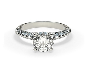 marriage Diamond solitaire ring 3D printable model