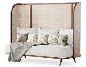 3D Three-seater garden sofa CV33 High back
