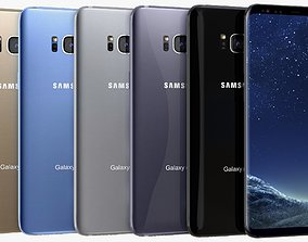 Samsung Galaxy S8 Plus All Colors 3D
