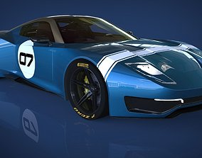 windshield SPORTS CAR 3D model