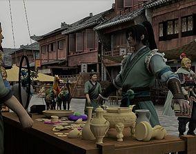 Ancient market 3D model