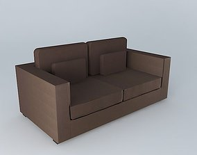 MILANO brown sofa houses the world 3D model
