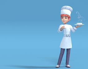 Cook Low Poly 3D asset