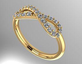 3D printable model infinity diamond ring