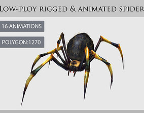 animated spider 3D model VR / AR ready