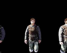 3D asset 4K Medieval Man Animated Game Ready Character 2