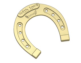 horseshoe Christmas New Year Gift for luck 3D print
