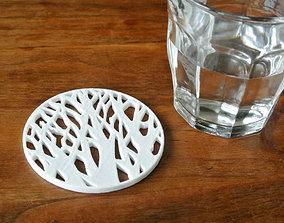 3D print model Tree silhouette coaster