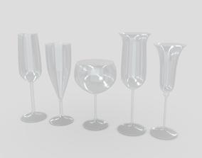 3D model Cocktail Glass Set 2