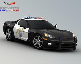 Chevrolet Corvette C6 Police Car 3D model
