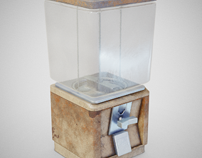 low-poly Candy Machine - Model 60 Rusty