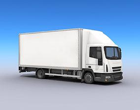 3D model Medium Size Box Truck