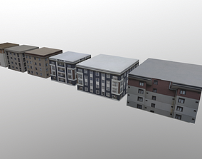 6 buildings in with one map 3D model