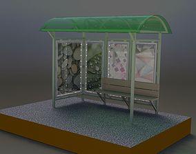 architectural Bus stop v2 3D model