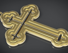 3D printable model Orthodox cross Necklace