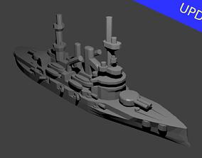 German Deutschland Class Battleship 3D print model