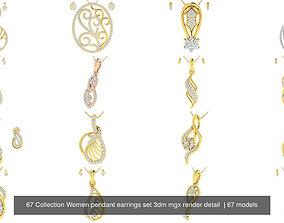 67 Collection Women pendant earrings set 3dm mgx render 1