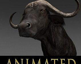 animated Animated Buffalo - 3d model