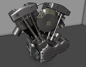 3D model Harley Shovelhead Motorcycle Engine