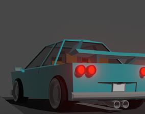 3D Sportcar Low poly
