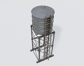Water Tank with pbr textures 3D model