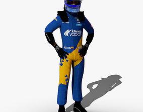 3D asset Fernando Alonso Indy 2019