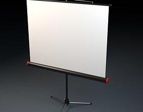 3D model interior Projector Screen
