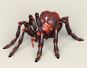Game Ready Fantasy Spider 3D asset