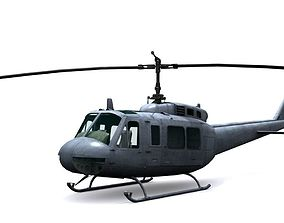 3D model Helicopter UH 1