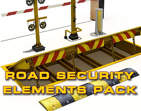 3D model Road Security Pack