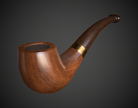 Tobacco Pipe 3D model game-ready