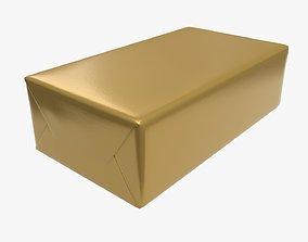 Butter foil package mock-up 3D