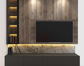 3D model Tivi wall set 4
