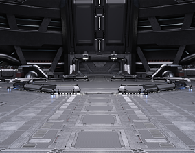 3D Sci-fi Scene for renders Time Travel