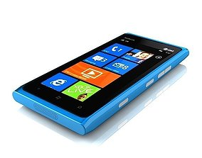 3D model Nokia Lumia 900 blue
