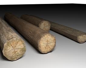 tree logs mini pack 3D asset