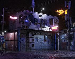 Cyberpunk Street Theme 3D asset