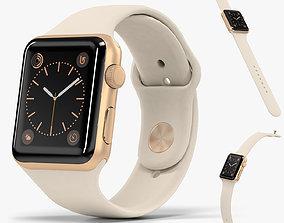 Apple Watch Gold Aluminum Case Antique White 3D model 1
