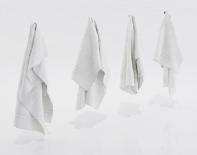 White towels 3D