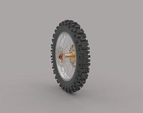 3D motogp Motorbike rear weel