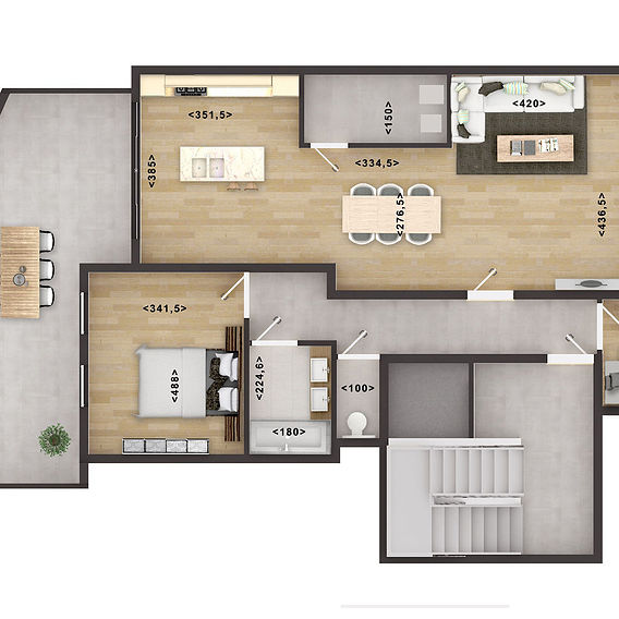 2D HOME FLOOR PLAN RENDERING SERVICES WITH PHOTOSHOP