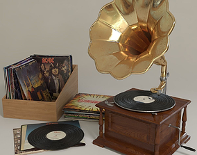 3D model phonograph and vinyl records