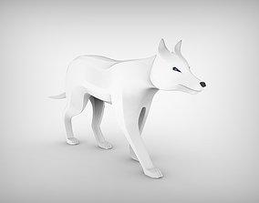 Wolf Sculpture 3D model
