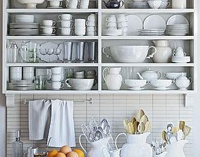 3D tiles Kitchen Decor Set