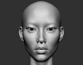 3D model Realistic Female Asian head