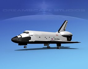 STS Shuttle Atlantis Landing MP 2-3 3D