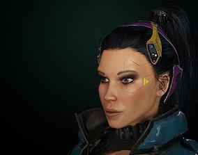 Cyberpunk Girl gameready 3D model