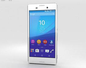 3D Sony Xperia M4 Aqua White